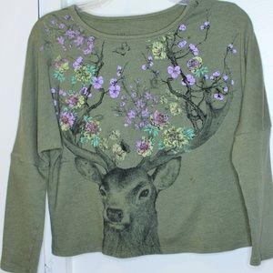 L.O.L. Vintage Olive Green Dear Sweatshirt XL